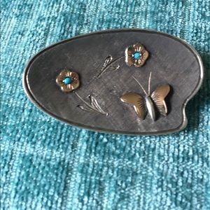 Vintage Sterling/18k Gold Pin